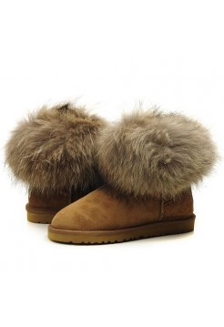 Угги из шерсти UGG Classic Mini Fox Chestnut рыжая лиса (Copy)