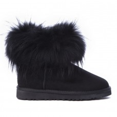 Угги из шерсти UGG Classic Mini Fox Black черная лиса