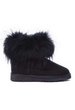Угги из шерсти UGG Classic Mini Fox Black черная лиса (Copy)