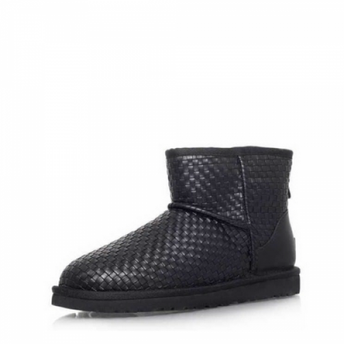 UGG Classic Mini Woven Leather Black