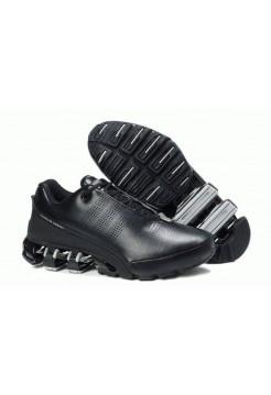 Кроссовки Adidas Porsche Design IV Leather Black Grey (О-214)