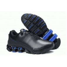 Кроссовки Adidas Porsche Design IV Leather Black Blue (О-423)