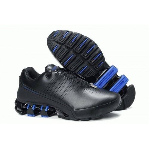 Кроссовки Adidas Porsche Design IV Leather Black Blue (О-423)