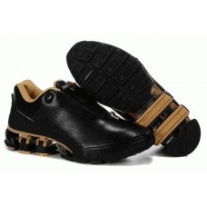 Кроссовки Adidas Porsche Design IV Leather Black Gold (О-241)