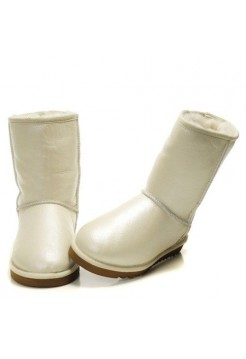 UGG Classic Short Leather WHITE (S355)