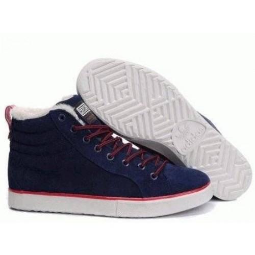 Кроссовки Adidas Ransom Fur Blue Suede (ОЕ152)