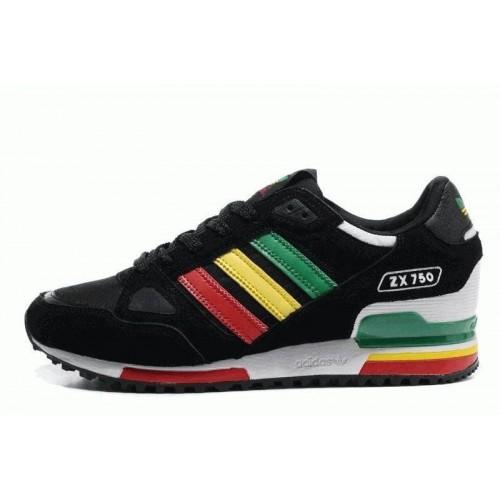 Кроссовки Adidas ZX 750 Черные (О763)