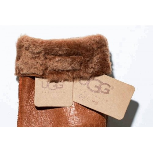 Перчатки UGG Leather Chestnut Gloves