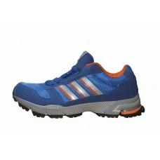 Кроссовки Adidas Marathon Сине-оранжевые (O-327)