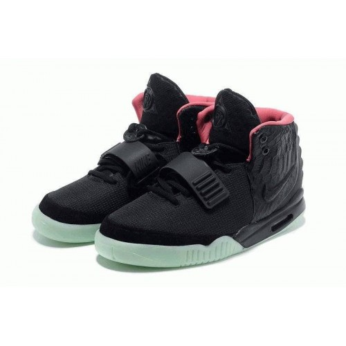 Кроссовки Nike Air Yeezy 2 Black Green Red (OVЕW511)