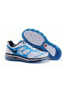 Кроссовки Nike Air Max 2012 Бело/синие (О-352)