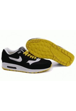Кроссовки Nike Air Max 87 Черно-желтые (OVА-511)
