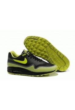 Кроссовки Nike Air Max 87 Hyperfuse Черно/зеленые (О-325)