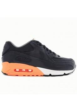 Nike Air Max 90 Premium Черно-оранжевый (М-351)