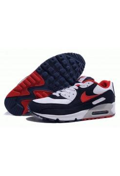 Кроссовки Nike Air Max 90' Бело/синие (О-341)
