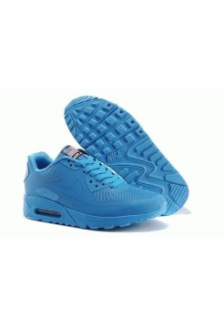 Кроссовки Nike Air Max 90 Hyperfuse Blue USA (VO631)