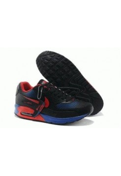 Кроссовки Nike Air Max 90 GL Black-Blue-Red (O411)