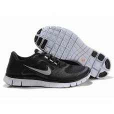 Кроссовки Nike Free Run Plus 3 Черно-серые  (ОМ-356)