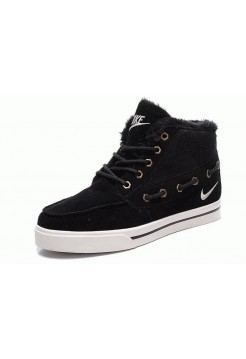 Кроссовки Nike High Top Fur Black (Е-322)