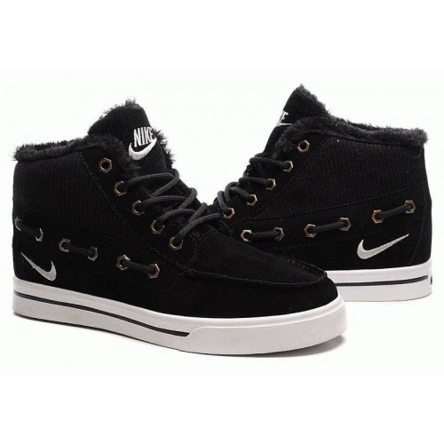 Кроссовки Nike High Top Fur Black (Е-322)