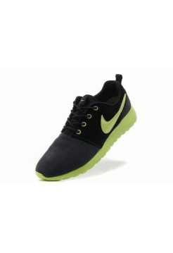 Кроссовки Nike Roshe Run II Suede Black Green (О-214)