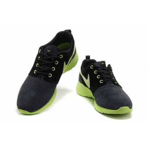 Кроссовки Nike Roshe Run II Suede Black Green (О-214)