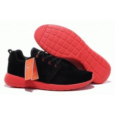 Кроссовки Nike Roshe Run II Suede Black Red (О-351)