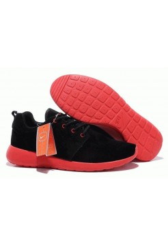 Кроссовки Nike Roshe Run II Suede Black Red (О-351)