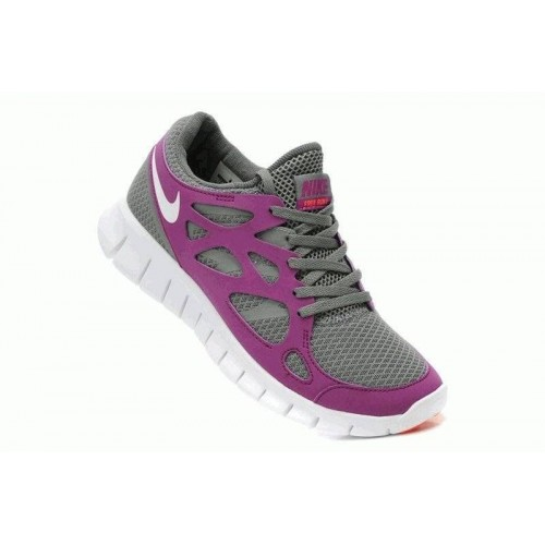 Кроссовки Nike Free Run Plus 2 Серо-фиолетовій (О-637)