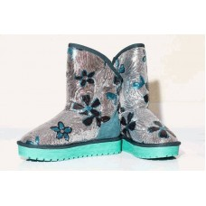 Угги SEQUINS FLOWER TURQUOISE (Н422)