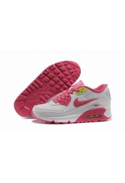 Кроссовки Nike Air Max 90 Бело/розовые (О-238)
