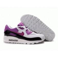 Кроссовки Nike Air Max 90 Бело/фиолетовый (О-512)