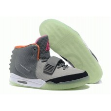 Кроссовки Nike Air Yeezy 2 Grey Green Orange (О-242)