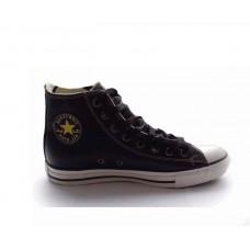 Кеды Converse Chuck Taylor All Stars High Кожа черные (Н124)