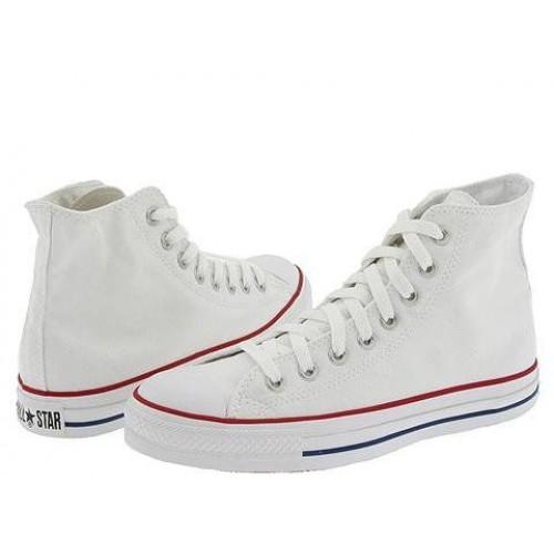 Кеды Converse Chuck Taylor All Stars High белые кожаные (Н127)