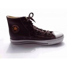 Кеды Converse Chuck Taylor All Stars High кожа коричневые (Н654)