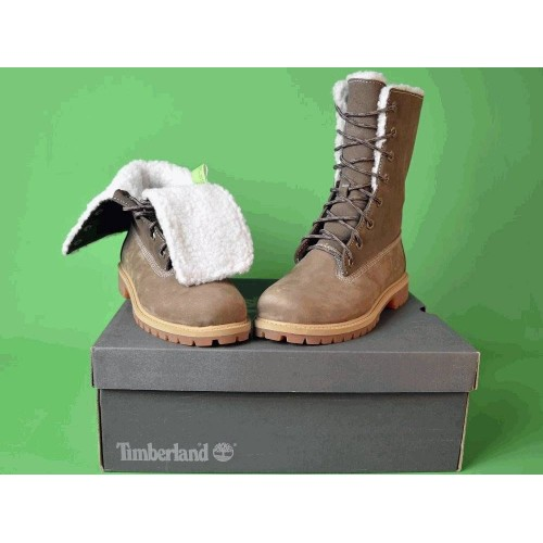 Ботинки Timberland Teddy Fleece China Brown С мехом