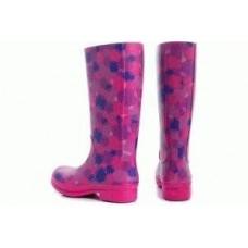 Сапоги Crocs Wellie Polka Dot Rain Boot 15374 Fuchsia / Ultraviolet