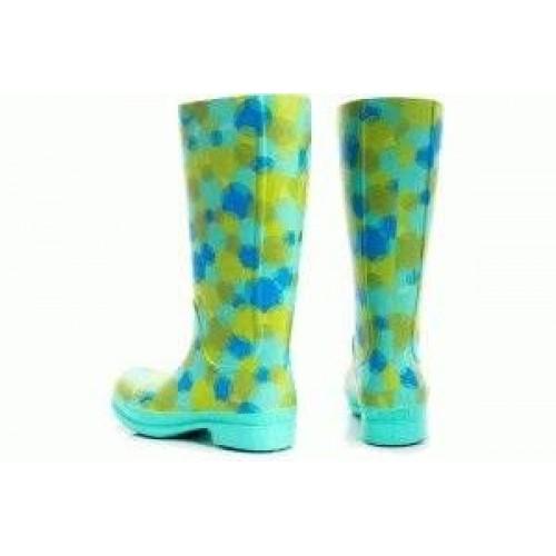 Сапоги Crocs Wellie Polka Dot Rain Boot 15374-1 Island green / Ocean