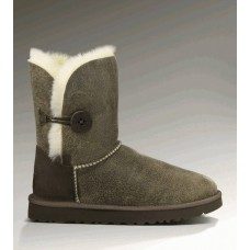 UGG Bailey Button Bomber Grey Chocolate