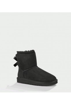 UGG Bailey Bow Mini черные (SМ147)