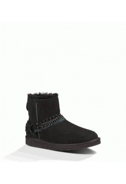 UGG CLASSIC MINI METAL CHAIN Black черные