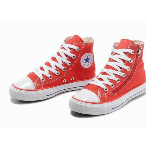 Кеды Converse Chuck Taylor All Stars High Красные на молнии