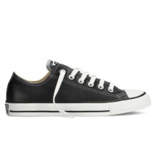 Кеды Converse Chuck Taylor All Stars Low Black кожа (НM042)