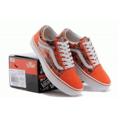 Кеды Vans женские Оранжевые (Н641)