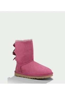 UGG BAILEY BOW DARK DUSTY ROSE