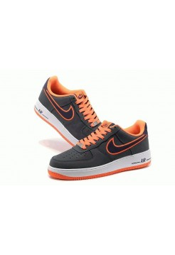 Кроссовки Nike Air-Force Low Gray/Orange