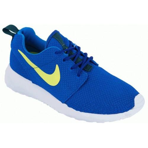 Кроссовки Nike Roshe Run Син-желт (М862)