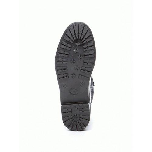 Комбинированные резиновые сапоги 4640 black mini romb