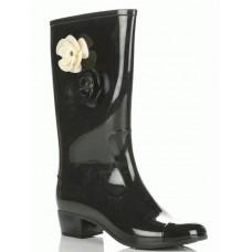 Резиновые сапоги на каблуке Шанель №3